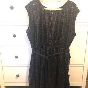 Lane Bryant black sequin party dress size 22/24